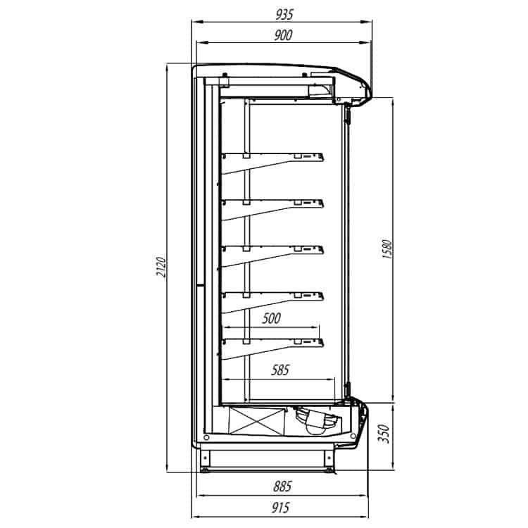Кварц компакт с стеклянными дверями