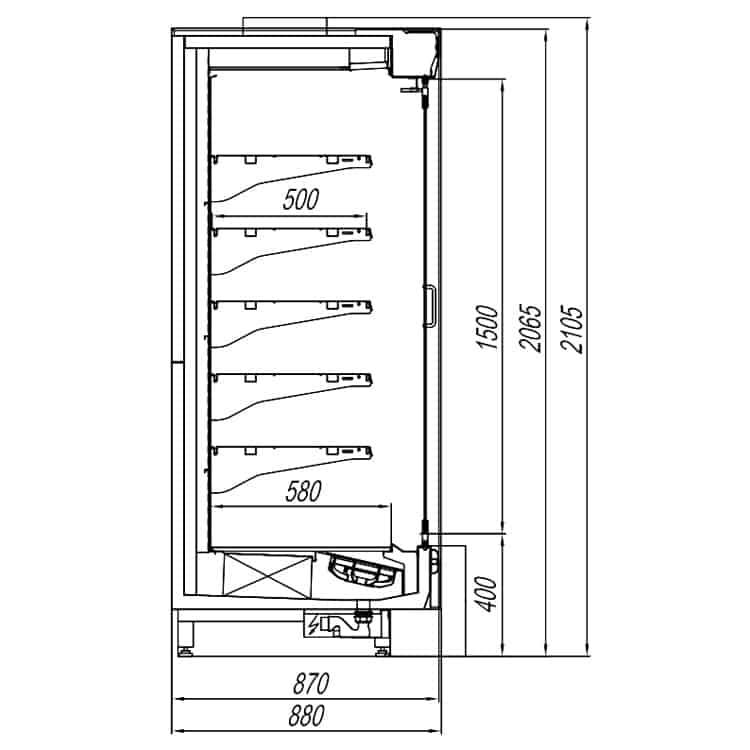 Кварц X5 компакт с стеклянными дверями